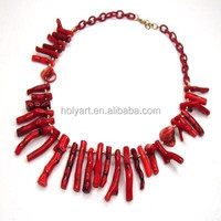 hot sale red coral necklace designs