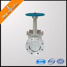 Cast iron PN10 knife gate valve electric driven flange type knife gate valve