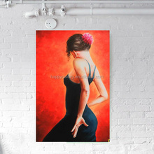 spain girl dance oil painting