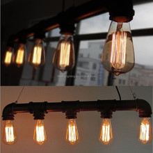 2014 popular American Loft industrial iron pipe Pendant Light with free five edison bulb china supplier