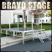 Long Span Stage With Brace Aluminium Portable Stage With Steps Organic Glass Mobile Stage Factory