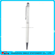 Custom printed crystal loaded stylus touch screen pen with logo