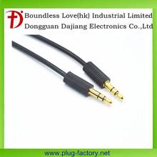Dajiang customized 3.5 mm cable de audio macho a macho chapado en oro conector