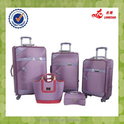 Factory Price High Quality Spinner Wheel Real Push Trolley Alibaba China PU Luggage