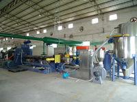 waste plastic pelletizing system production line Plastic film granulator machine