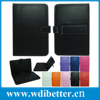 Google Tablet pc Keyboard Case 8inch Black PU Leather Case Keyboard for 8inch Android