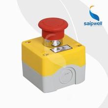 SAIP/SAIPWELL 1 Way ABS IP65 Waterproof LED Signal Lamp emergency stop push button box