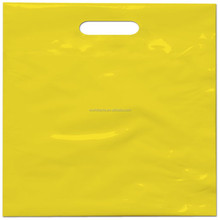 Shopping used plain plastic die cut handle bag can be special printed