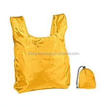 Promotional 190T polyester shopping bags with logo For adult/younger
