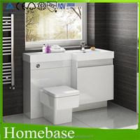 High glossy white bathroom designs for bathroom vanity made in Shanghai China