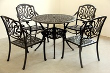 Luxury antique cast aluminum outdoor furniture leisure furniture table and chair set garden/patio furniture