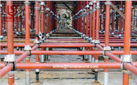 Hot Selling Galvanized scaffold materials cuplock standard for walk platform