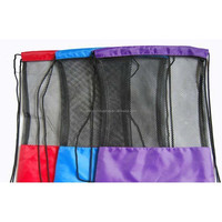 Durable Nylon mesh drawstring sports pouch bag,customized size,drawstring nylon mesh gift bag