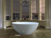 round freestanding solid surface bathtub