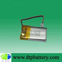 DTP smallest 3.7v battery 200 mah