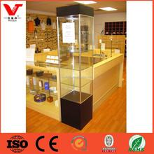 Modern perfume glass aluminium display cabinet