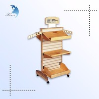 Top grade handcrafted solid wood display for food