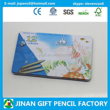 High Quality Artist 12 pc Aquarelle Watercolor Pencil in Tin Box/Pencil Supplier