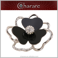 Factory price newest women's glass zinc alloy brooch