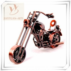 Metal Crafts Old Bronze Motorcycle Model, Handmade Motorcycle Model for home decoration