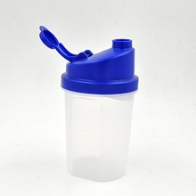 Custom Logo 500ml BPA Free Plastic Shaker Cup with Stainless Steel Mixer Ball