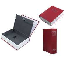 Red English Dictionary Book Cash Money Coin Safe Box Security Storage Case 18*11.6*5.5cm