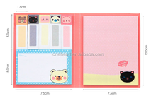Cute fashionable sticky note pad , cartoon removable cheap sticky notes, die cut sticky notes
