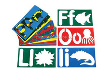 fun and easy Alphabet Stencils , letters with picture Stencils , coordinating picture Stencils