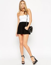 2015 fashionable hot sale OEM customized Bandeau Romper with Scallop