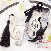 "Unique Wedding Souvenir Party Favors and Gifts-""Timeless Duet"" Love Metal Music Note Bookmark Favors"