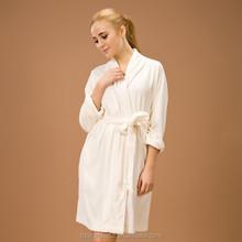 white shawl collar 100% cotton fabric bathrobe woman sex with animal photo design as sexy women dress