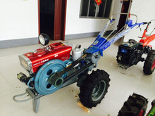 2 wheel walking tractor with plough and tiller and grass mower