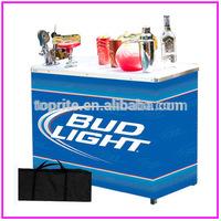Portable aluminum ortable folding bar table