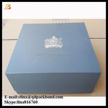 Wholesale top quality matt lamination silver embossed logo foldable paper box gift box