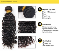 caribbean remy deep curl braiding romance curl human hair for women