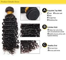 caribbean remy deep curl braiding romance curl human hair for women