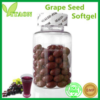 500 mg ISO GMP Certificate and OEM Private Label Grape Seed Oil Extraction Softgels
