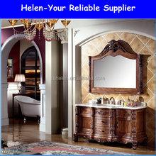 Antique Bathroom Vanities America Red Oak Wood Floor Standing Cabinet NO.1501 Furniture