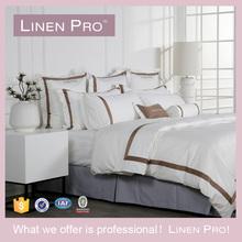 100% Cotton 300 Thread Count Sateen Bedding Set, White Hotel Patchwork Quilt/Hotel Patchwork Bed Sheet