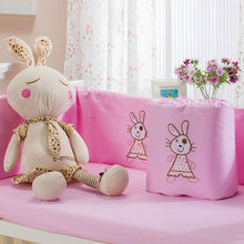 Hot Sale fashion embroidary pink rabbit Baby Bedding Set wholesale