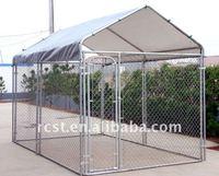 Galvanized Portable metal pet dog box cage kennel