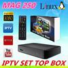HOT selling MAG250 IPTV Box linux system MAG 250 iptv set top box satellite streaming MAG250 iptv box