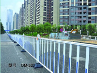 Non-welded Galvanized steel Road Fence, wrought iorn traffic barrier