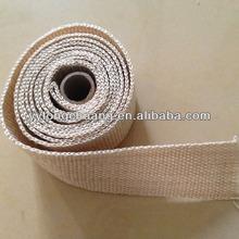 Tan Fiber glass exhaust heat wrap/fiber glass tape with heat treatment