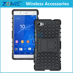 Alibaba Express Hybrid Dual Layer Armor Defender Protective Case Cover For Sony Z5 Compact