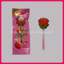 10g Sweet Roses Lollipop with Fluorescent Stick