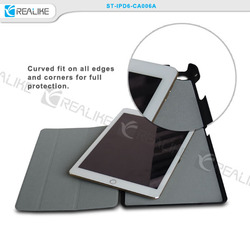top pu case for ipad air 2,simple design with stand style