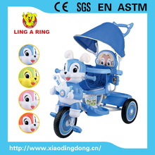2015 New model baby tricycle children tricycle baby trike Rabbit head with music and light