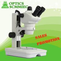 LED illumination 4X to 200X trinocular zoom stereo microscope / stereoscope