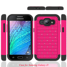 Wholesale Price Dual Layer Defender Hybrid Cell Phone Case for Samsung Galaxy J1